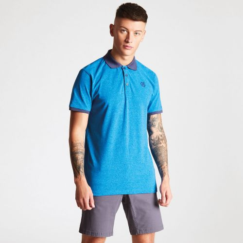 Dare2b Men's Deference Polo Shirt Petrol Blue